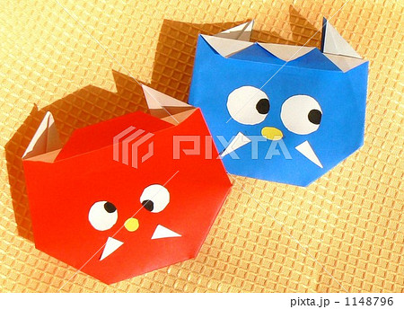 ハート 折り紙 折り紙 おに : pixta.jp