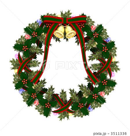 リース クリスマスリース 花輪 Cgのイラスト素材 Pixta