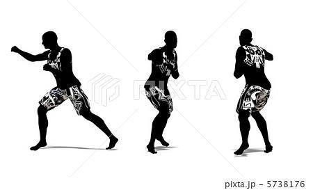格闘家 格闘技 パンチ アスリートのイラスト素材 Pixta