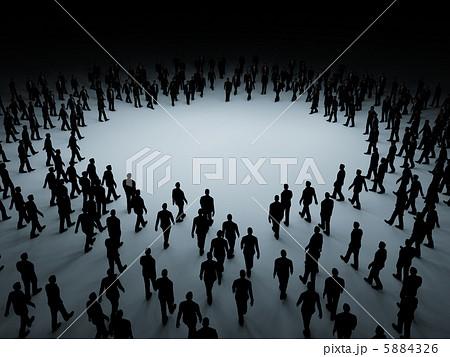 人ごみ 群集 大群 人混みのイラスト素材 Pixta