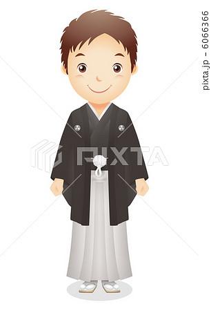 紋付袴 着物 男性 正月 正装のイラスト素材 Pixta