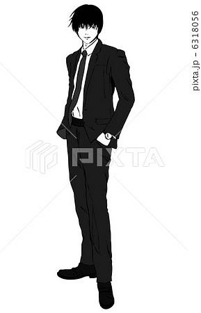 メンズスーツのイラスト素材 Pixta
