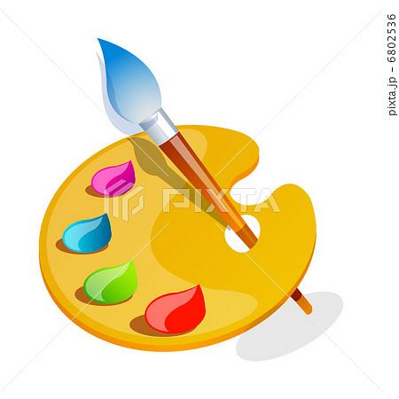 絵の具パレット パレット クリップアート 絵皿のイラスト素材 Pixta