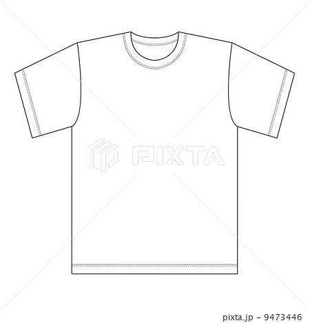 Tシャツ 半袖 服 衣類のイラスト素材 Pixta