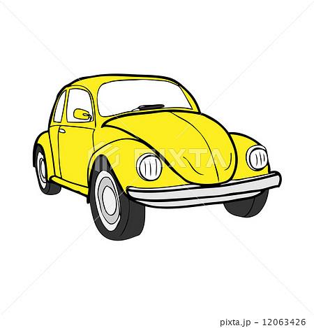 車 ビートル イラスト イエローのイラスト素材 Pixta