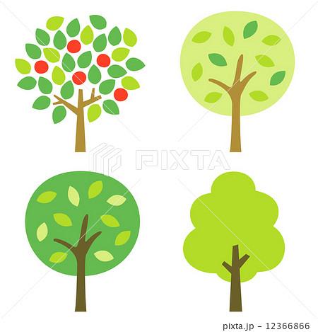 街路樹 果樹 木 イラストのイラスト素材 Pixta