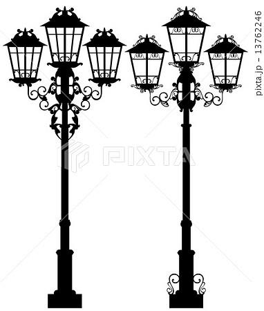 照明 街燈 ガス燈 アンティークのイラスト素材 Pixta