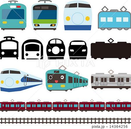 ベクター 線路 電車 かわいいのイラスト素材 , PIXTA