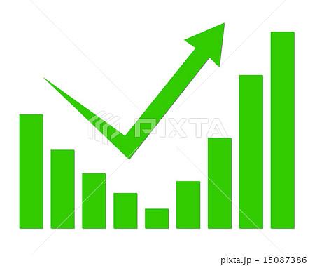 V字回復グラフのイラスト素材 [1...