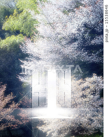 扉 ドア 希望 太陽光のイラスト素材 Pixta