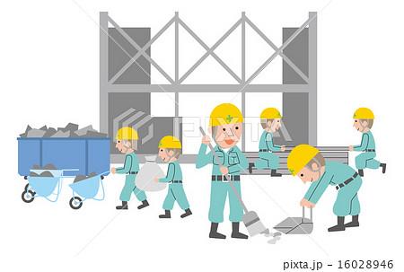 工事現場のイラスト素材 Pixta