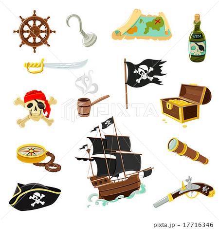 剣 宝箱 海賊旗 樽のイラスト素材 Pixta
