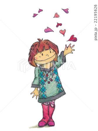 日本 明るい 日本人 笑顔 若い スマイル 爽やか 女の子 楽しいのイラスト
