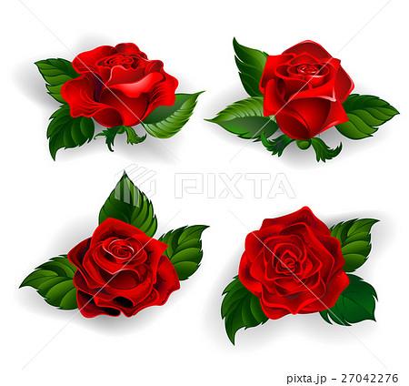 赤い薔薇のイラスト素材 Pixta