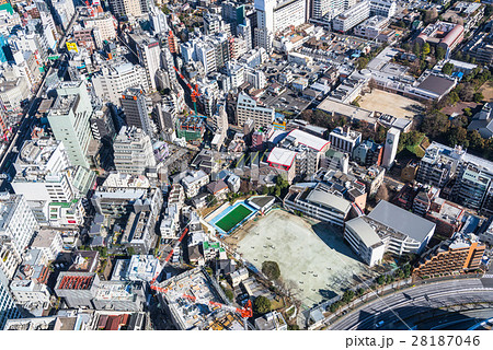 俯瞰図 街 建物 鳥瞰図 都市 ビルの写真素材 , PIXTA