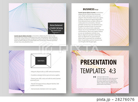 set of business templates for presentation slidesのイラスト素材