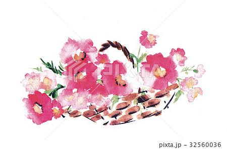 花かごのイラスト素材 Pixta