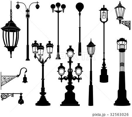 ガス燈 イラストレーション イラスト アンティークのイラスト素材 Pixta