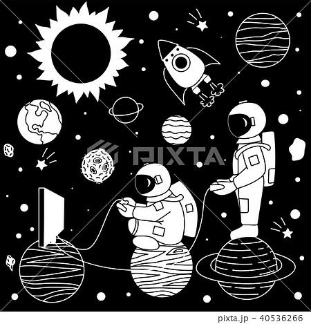 宇宙飛行士 かわいい 可愛い 面白いのイラスト素材 Pixta