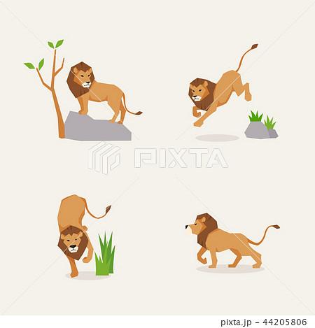 走るライオンのイラスト素材 Pixta