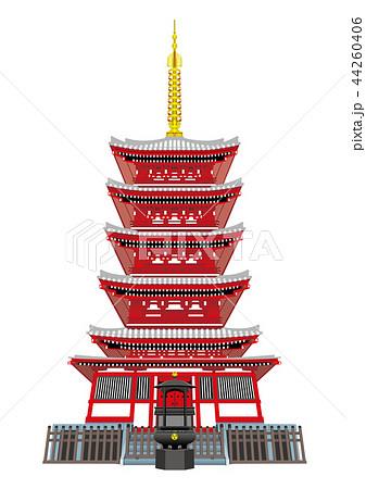 五重塔のイラスト素材 Pixta