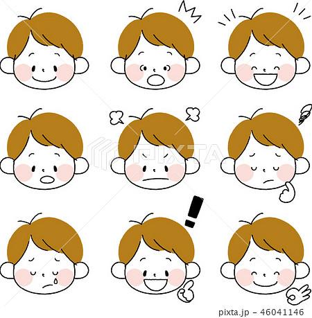 幼児 子供 表情 男の子のイラスト素材 Pixta