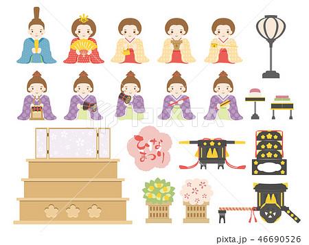 雛人形お雛様のイラスト素材集 Pixtaピクスタ