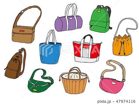 バッグかばん鞄のイラスト素材集 Pixtaピクスタ
